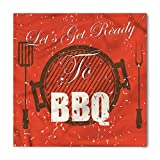 Lunarable BBQ Party Bandana, Typography Lets Get Ready, Unisex Head and Neck Tie