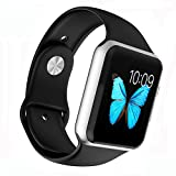 Image of Apple Watch Band - WantsMall Soft Silicone Sport Style Replacement iWatch Strap for 38mm Apple Watch Models