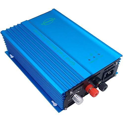 System Solar Power Grid Tied (SOYOSOURCE 500W Solar Inverter for Home System for dc Input 85-125V Grid Tied Inverter to AC120V high Efficiency or 72V Battery Adjustable Power Output(500W-ADJ-DC:80V-125V))