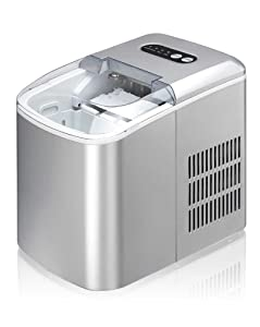 SPT IM-124S Portable Ice Maker, Silver