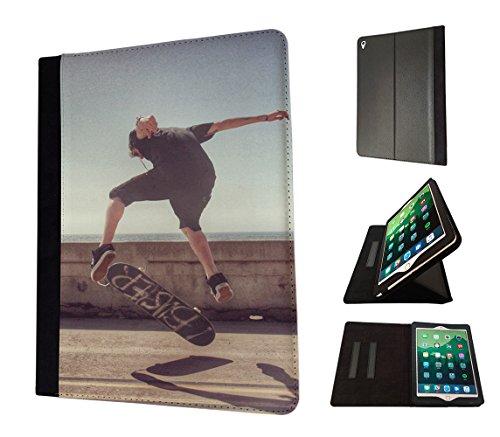 002599 - skateboard Cool Fun Jump skateboarding Design Apple ipad Mini / ipad Mini Retina 1 2 3 Flip Case Purse Stand Cover