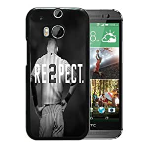Derek Jeter RE2PECT New York Yankees Black New Design HTC ONE M8 Protective Phone Case