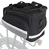 Case4Life Water Resistant Large Rear Bike Bag Mountain/Road Bicycle Pannier Removable Shoulder Strap + Multiple Secure Pockets