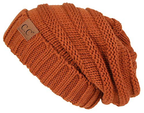 Funky Junque H-6100-68 Oversized Slouchy Beanie - Rust
