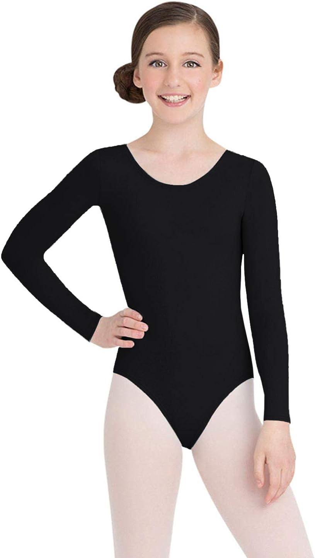 Capezio Girls' Team Basics Long Sleeve Leotard: Clothing