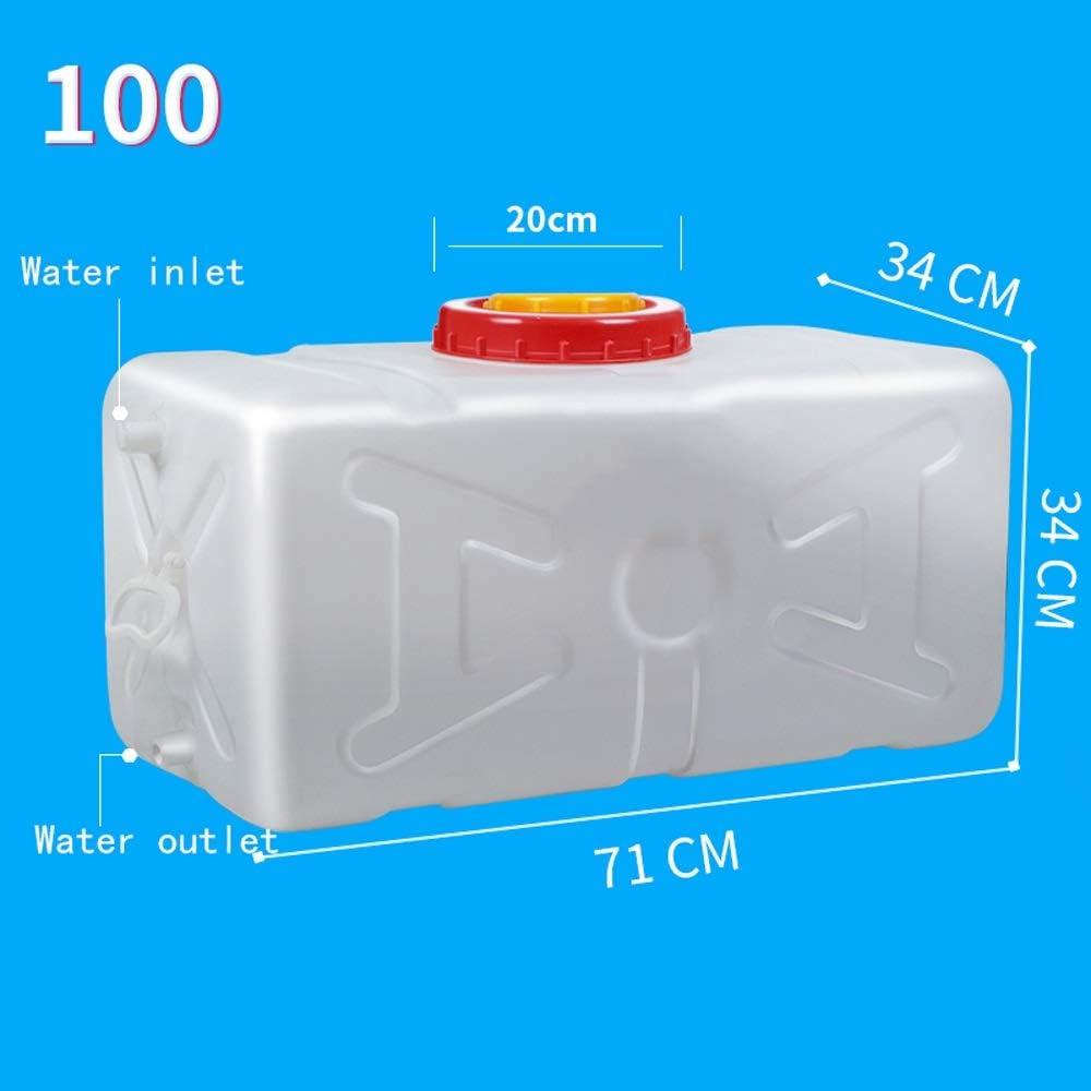 Tanque De Agua De Plástico De Grado Alimenticio For El Hogar Cubo Grande Horizontal De Almacenamiento Tanque De Almacenamiento Rectangular Grueso Con Cubierta Torre De Agua Cubo Blanco (Size : E) :