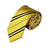 Dress Shirt Tie Formal Style Adult & Kids Halloween Costume Accessory USA (Gold)