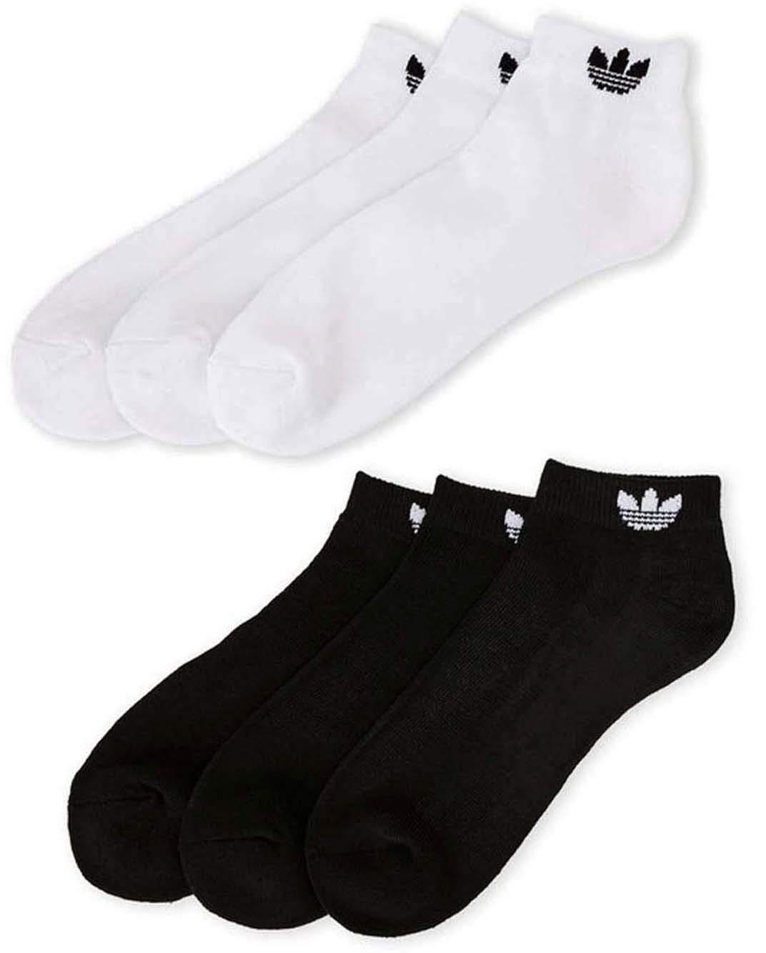 adidas Men's Athletic Low Cut Sock (6-Pack) Black/White Originals by adidas