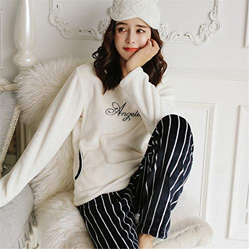 Winter Thick 57kg 168cm L158 Service And Velvet Warm 47 Coral 65kg Autumn Xl162 Pajamas Home Flannel Outside 58 Pajamasx Female 164cm Worn Can Be xwS0YHq