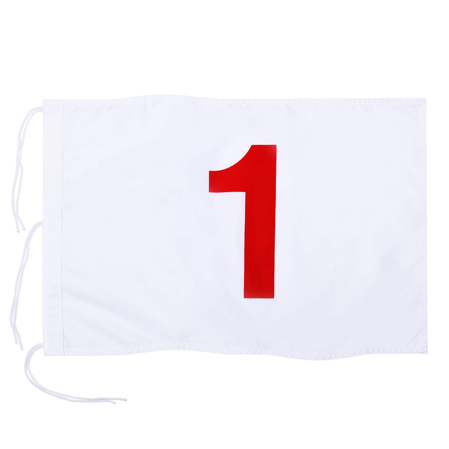 KINGTOP Numbered Golf Flag with Secure Strings, 13'' L x 20'' W, 420D Nylon, White 1 by KINGTOP