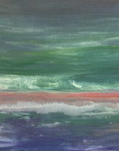 Coastal Horizons  5  Wall D Cor Art Landscape Painting Original Handmade Print Blue Green White Modern Artwork For The Home Or Office Contemporary Picture Gift 8 X 10 Ready To Hang Cradled Panel