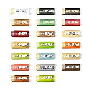 Hurraw! Lip Balms: 5 Pack - any 5 Scents (23 Scents to choose from)