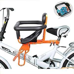 Silla De Niño De Bicicleta Asientos Seguros Frente Plegable Desmontaje Niños Asiento con Cinturón De Seguridad