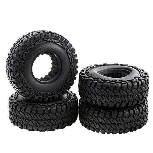 4wd Tires And Wheels - LAFEINA 4PCS 114mm Off Crawler Car Tires Rubber Tyre for 1/10 RC Crawler Car Axial SCX10 RC4WD D90 1.9 Inch Wheels