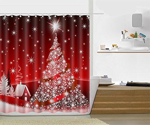 3D Bathroom Polyester Waterproof Shower Curtain 7# - 7