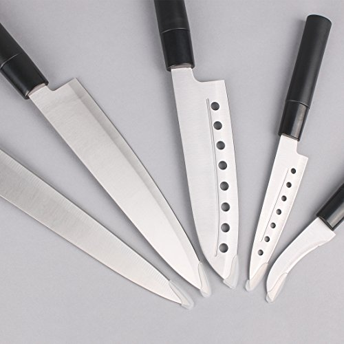 Homsport 5 Pieces Kitchen Knife Set Cutlery Set Stainless
