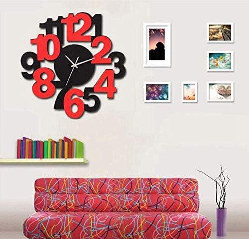 壁掛け時計リビングルーム、壁掛け木製壁掛け時計ミュート寝室オフィスリビングルーム装飾
