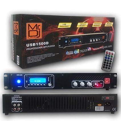 Amazon.com: MR. DJ usb1500d mezclador DJ Profesional ...