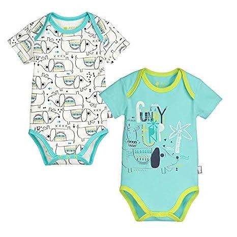 Lot de 2 bodies manches courtes bébé garçon Iwou - Taille - 3 mois ... 47336423bfd