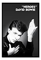 David Bowie Heroes Album Cover Poster Magnetic Notice Board Black Framed - 96.5 x 66 cms (Approx 38 x 26 inches)