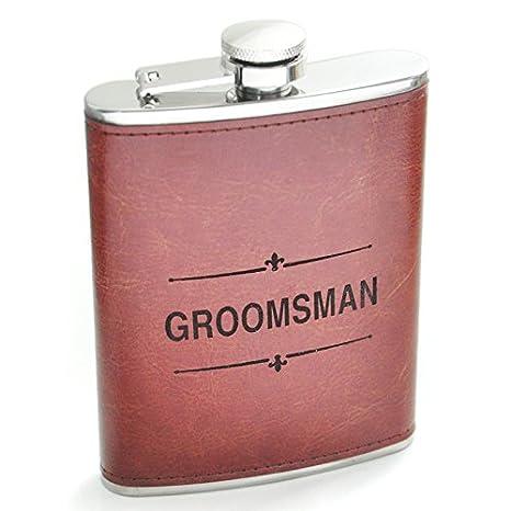 Amazon.com: Petaca de piel, matraz de Grabado, regalo para ...