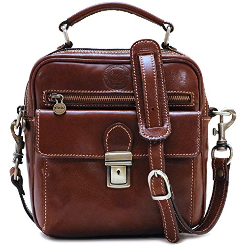 Cenzo Leather Field Bag Satchel Cross Body by Cenzo