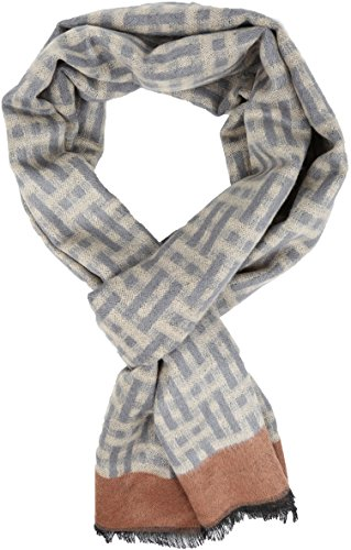 Sakkas 16136 - Jiel Long Wide Classic Multi Colored Pattern UniSex Cashmere Feel Scarf - Brown - OS ()