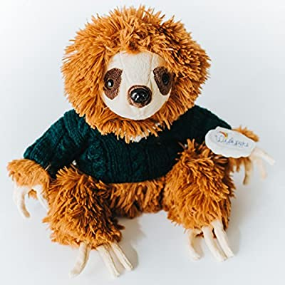 Wishpets Plush 14&Quot; Hipster Sloth With Sweater - Wishpets