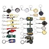 10Pcs Miniature Metal Removable Cartridge Exquisite PUBG Keychain Accessories Keychain Charm Souvenir Gifts(Random Styles)