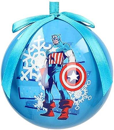 Bola navidad con tus héroes de Marvel,Adorno para árbol Navidad,Presentada en caja transparente