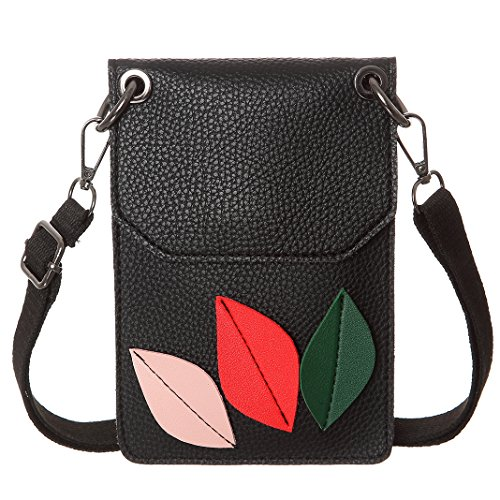 Bags Purse For Women Small Crossbody Phone Leather Black Wallet Synthetic Cell 0O8B5