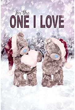 Me To You Tatty Teddy 3D Holographic Christmas Card One I Love