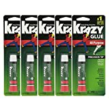 Lot Of 5 Elmers Krazy Glue Original Crazy Super Glue All...