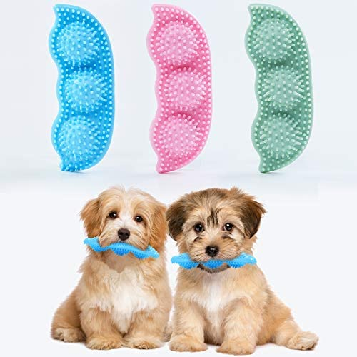 WHRPEN 3 Pack Dog Chew Toy for Teething, 2-8 Months Puppy Teething Chew Toys, 360° Clean Pet Teeth & Soothe Pain of Teeth Growing, Puppy Toys, Both Small Dogs & Medium Dog Suitable