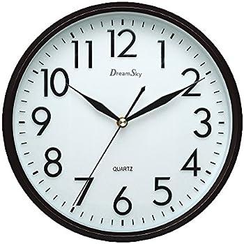 "Amazon.Com: Hippih 10"" Silent Non-Ticking Wall Clock,Black: Home"