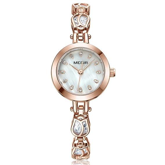 MALLTY Reloj de Cuarzo Brecelet con Esfera pequeña en Oro ...