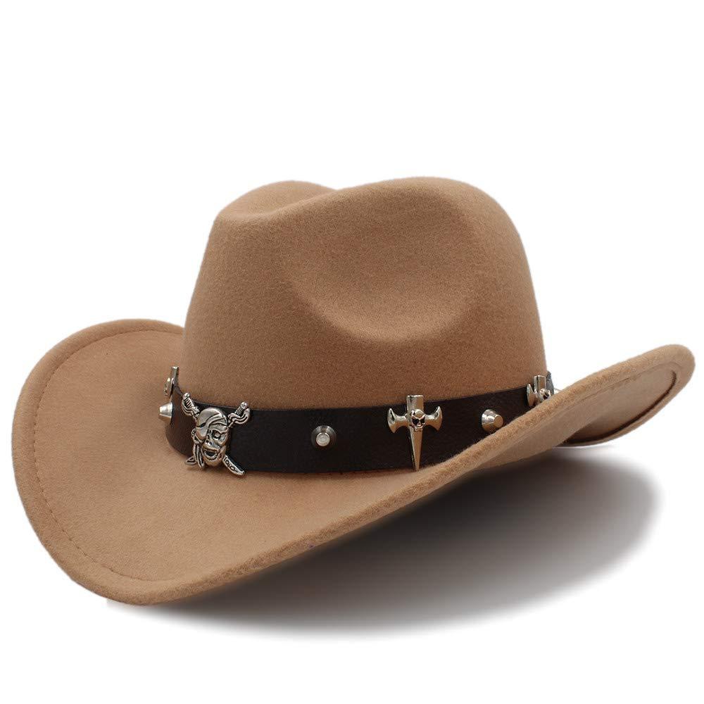 Achun Mütze Unisex-Warmer Fedora-Hut-Reiter-Kappe bequemer Hut zerquetschbarer Wollfilz-Western-Cowboy-beiläufiger Hut