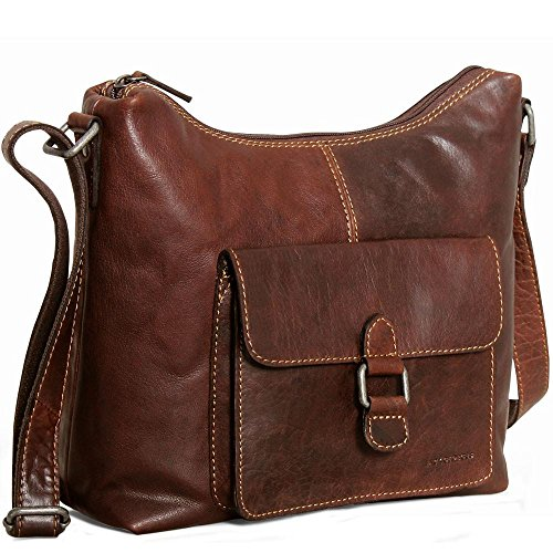 Jack Georges Voyager Collection Hobo Bag 7614 Brown for sale  Delivered anywhere in USA