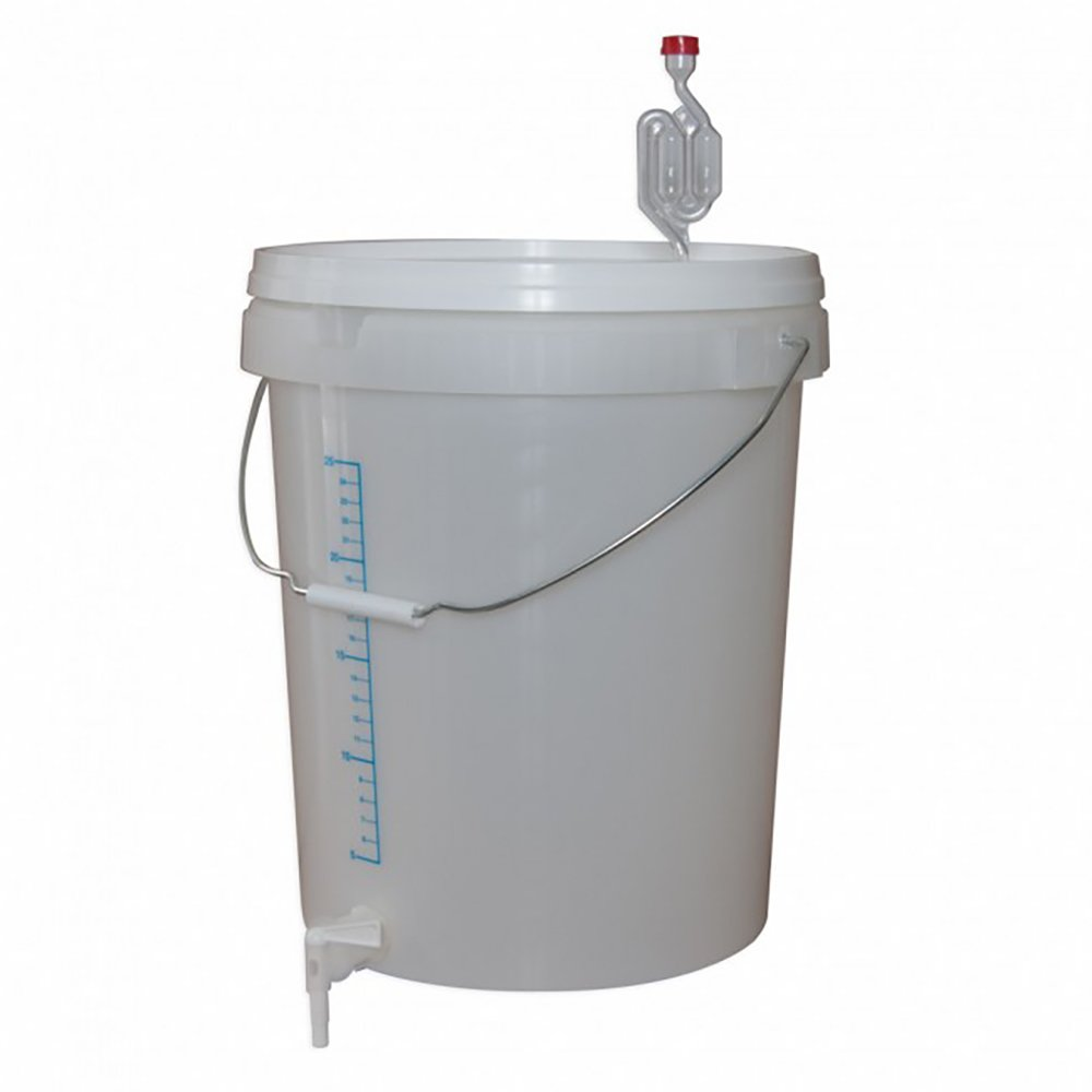 30 Litre Fermentation Bucket with Lid, Grommet, Airlock & Tap by Love Brewing