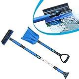 Automatic Car Truck Snow Brush Shovel Set Telescoping Detachable Snow Removal Kits - Snow Shovel & Snow Brush with Ice Scraper