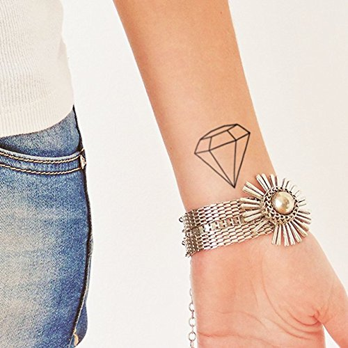 Diamante - Tatuaje temporal (conjunto de 2): Amazon.es: Handmade