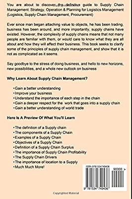 Supply Chain Management: Strategy, Operation & Planning for