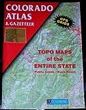 Colorado Atlas, DeLorme Map Staff, 0899332730