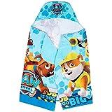 "Franco Kids Bath and Beach Soft Cotton Terry Hooded Towel Wrap, 24"" x 50"", Paw Patrol Blue"