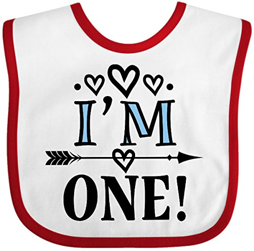 Inktastic - 1st Birthday Native Arrow I'm One Baby Bib White/Red 2df0b (1st Birthday Bib)