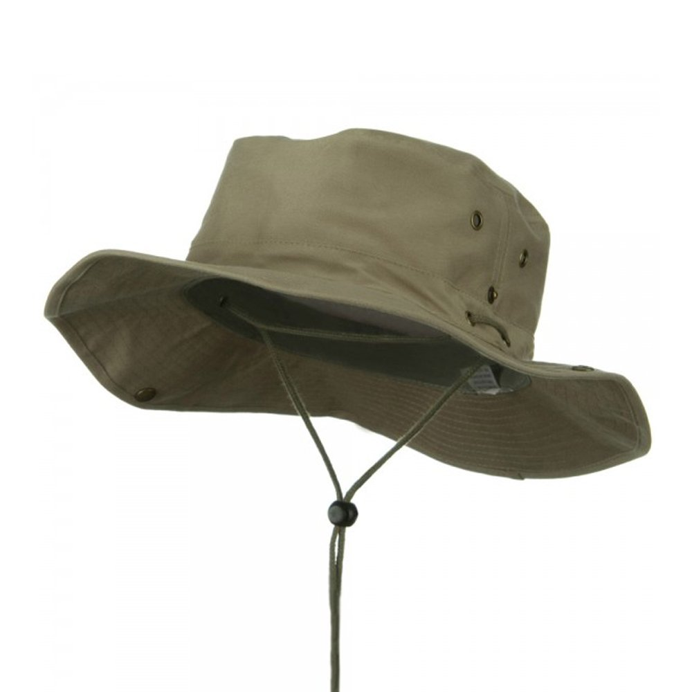 MG Fishing Hat (01)-Khaki W10S32F (XL-2XL)