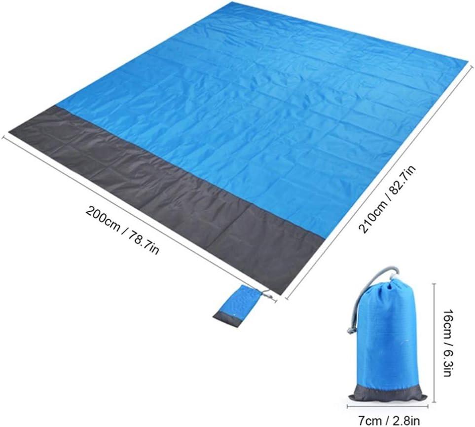 GXFWJD Couverture De Plage Couverture De Pique-Nique Anti Sable Couverture De Camping avec 4 Clous Fixes for Camping en Plein Air Jardin Plage Randonnée Voyage Orange