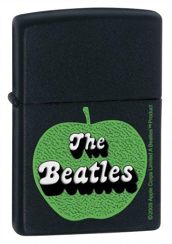Zippo The Beatles Green Apple Pocket Lighter (Black, 5 1/2 x 3 1/2 cm) - Kit Rae Zippo