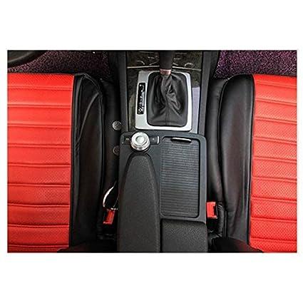 Anti Drop Car Seat Filler Latch Cushion 48CM x 8CM 2 pcs. Black TOOGOO R