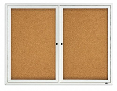 Quartet Outdoor Cork Bulletin Board, Enclosed, 4 x 3 Feet, Aluminum Frame ()